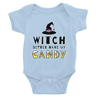 Witch Better Have My Candy Baby Bodysuit Gift Sky Blue