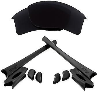 Replacement Lenses & Kit for Oakley Flak Jacket XLJ Black Anti-Scratch Anti-Glare UV400 by SeekOptics