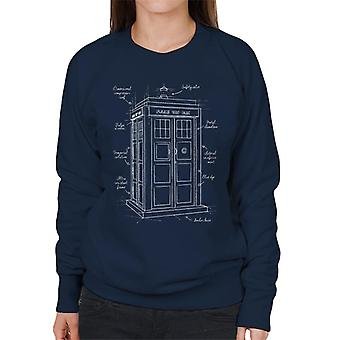 Doctor Who Tardis Blueprint Women's Sweatshirt