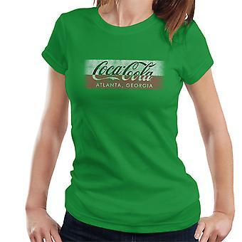 Coca Cola Georgien Stripe Damen T-Shirt