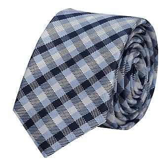 Bleu noir gris Fabio Farini checkered tie, cravate, cravates, cravate, 8 cm