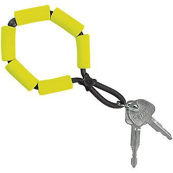 Chums flytende skum strekke TPU bygging nøkkelring - gul