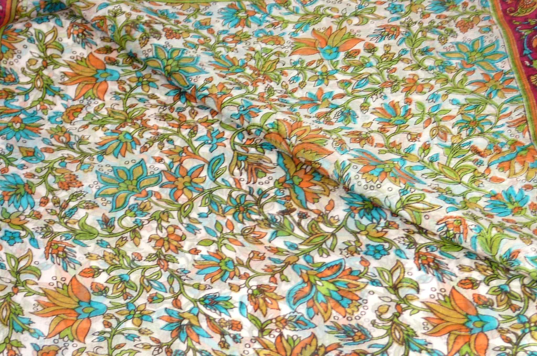 Mulberry Silk Traditional Long Scarf Sarita Cerise by Pashmina & Silk