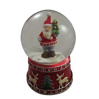 Gisela Graham Traditionele Kerstman met Kerstboom Snowdome