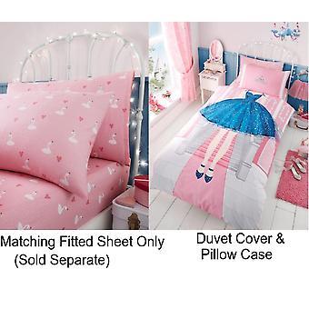 Prinses Selfie meisjes kinderen één Dekbedovertrek Quilt Cover kinderen beddengoed Set