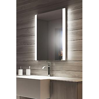Espejo de baño de borde doble de arrecife con afeitadora toma k51v
