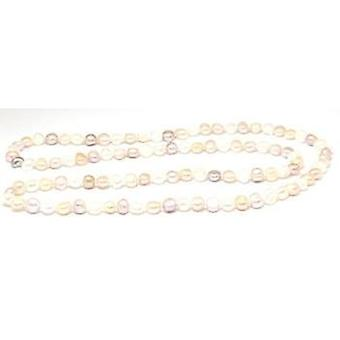 TOC Baroque Bleached White & Dyed Peach, Powder Rose & Cream Rose Freshwater Cultured Pearls 15.5