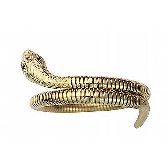 9ct Gold Ruby set Snake Bracelet