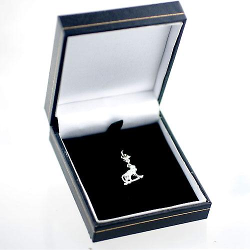 Silver 23x14mm Monkey on all fours Charm on a lobster trigger