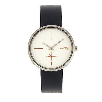 Simplifier le 4400 cuir-bracelet - marine/argent