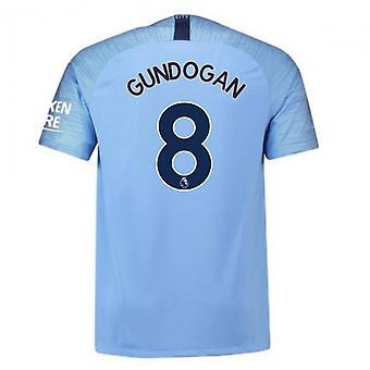 2018-2019 رجل المدينة الرئيسية نايكي لكرة القدم قميص (Gundogan 8)