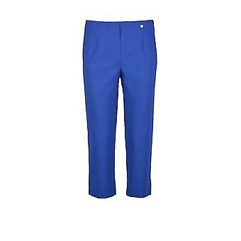 Robell Marie cortadas calças em azul Royal