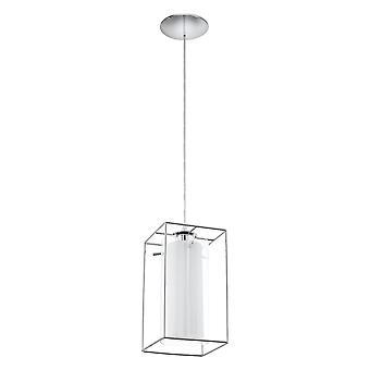 Eglo - Loncino 1 único vidro & Chrome emoldurado pingente EG94377