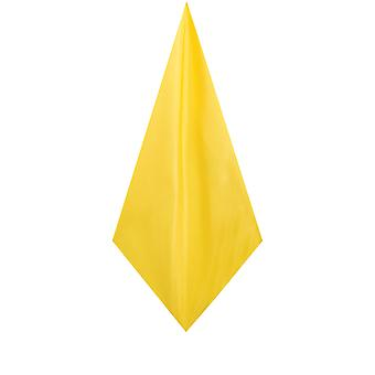 Dobell Mens Yellow Pocket Square Handkerchief Dupion Satin-Feel Fabric