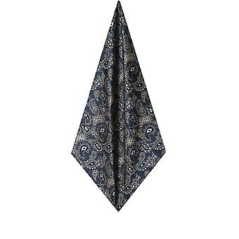 Dobell Mens Blue Large Paisley Handkerchief