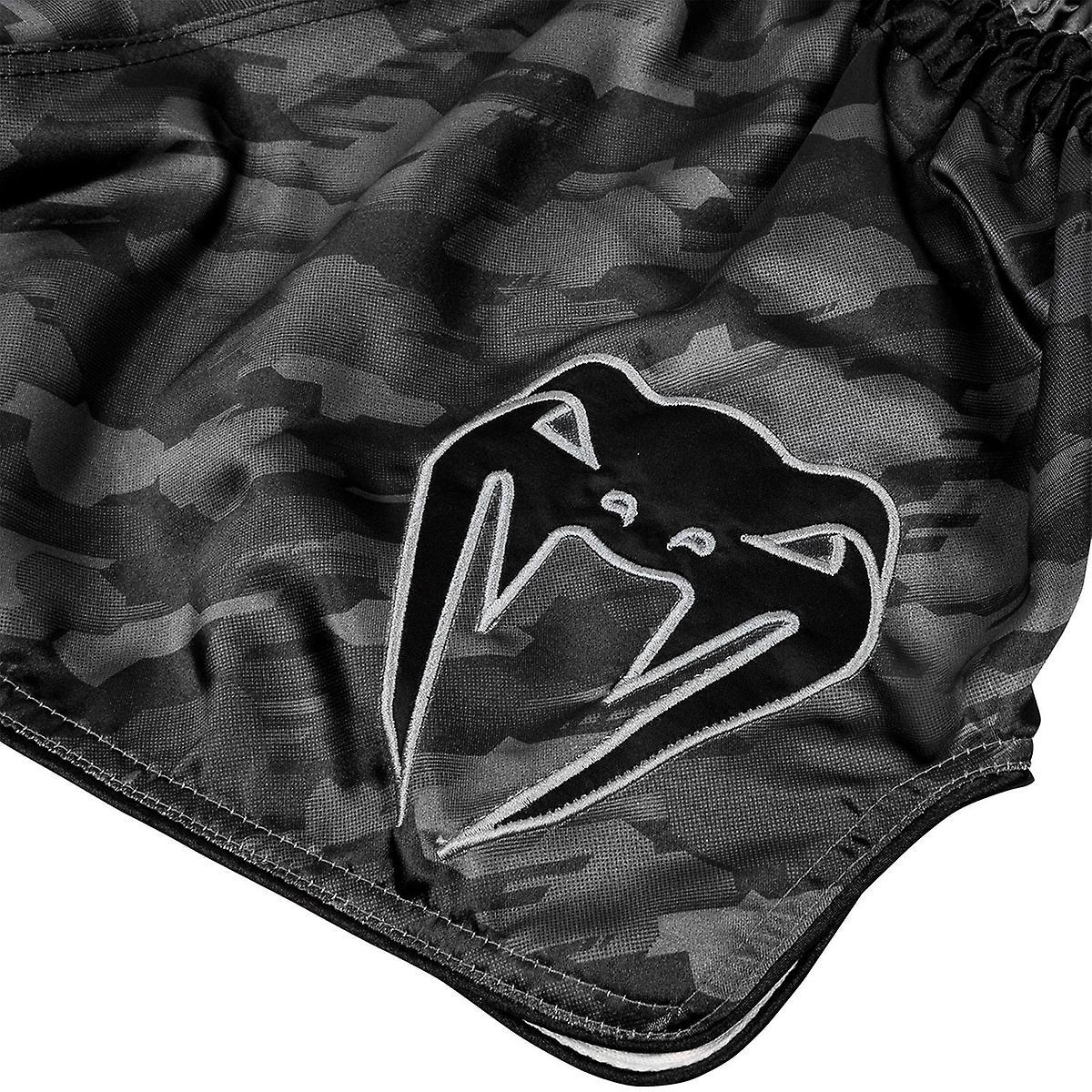 Dark Gray Venum Tecmo Muay Thai Shorts
