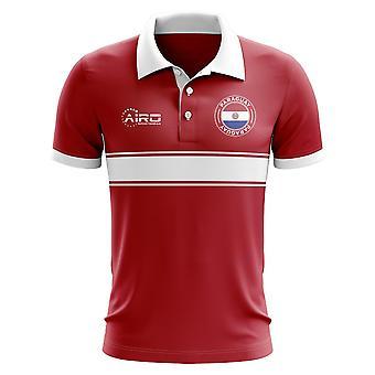 Paraguay-Konzept-Streifen-Polo-Shirt (rot)