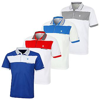 Island Green Mens 2019 Golf IGTS1706 Contrast Panel Polo Shirt