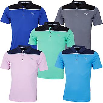 Puma Golf Herren geklebt Colourblock Polo Shirt