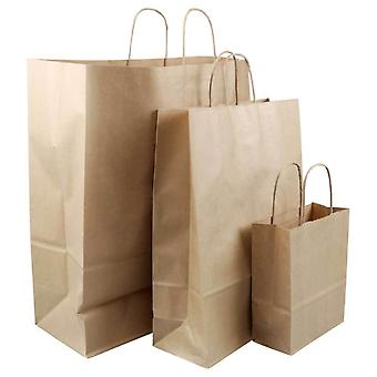 Brown Paper Bag Kraft Eco Recyclable Gift Shopping Retail Bags