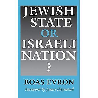 Jødisk stat eller israelsk nasjon?