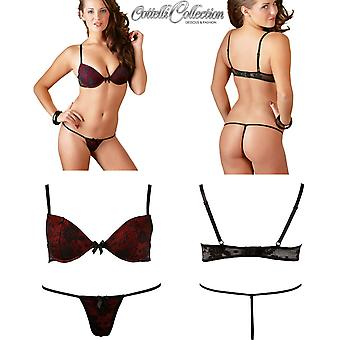 Cottelli Collection' Lace Bra Set with G-String (2210177)