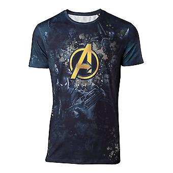Marvel Mens Comics Avengers Infinity War Team Sublimation Print T-Shirt Small