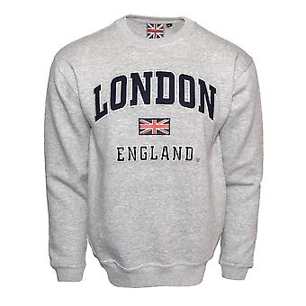 Le201gn unisex Londres Inglaterra camisola cinza marinho XS-2XL