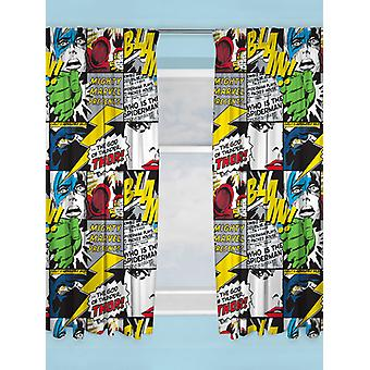 Marvel Comics Scribble Curtains