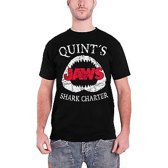 JAWS T Shirt Quints Shark stadgan film logotyp nya officiella Mens svart
