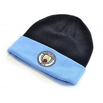 Manchester City FC Official Adults Monroe Cuff Knitted Hat