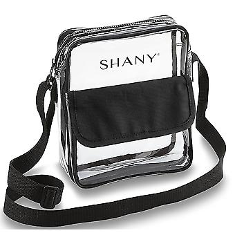 SHANY Clear All-Purpose Cross-Body Messenger Bag – Stadium Approved Tote and Makeup Carrier with Adjustable Shoulder Strap