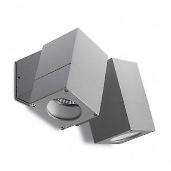 2 luz de pared al aire libre gris IP44