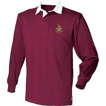Veterano de la Guardia de Provost Militar - Camisa de Rugby de Manga Larga bordada del Ejército Británico con Licencia