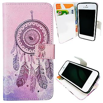 Iphone 5/5s/SE caso / billetera cuero-Dream catcher