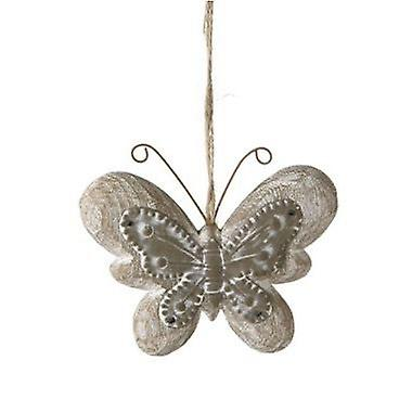 Butterfly Hanger Zinc and Wood