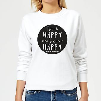 Tenk Happy Be Happy Circle kvinner ' s Pullover-hvit