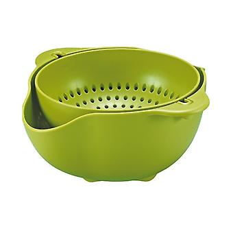 Rotating colk and bowl-green