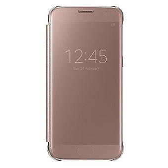Samsung EF-ZG930CZEGWW Clear View Cover dla Galaxy S7 rosegold
