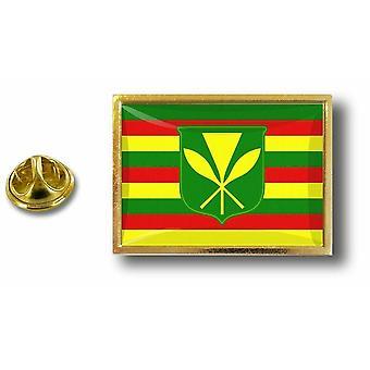 Pins Pin Badge Pin's Metal  Avec Pince Papillon Drapeau Hawaii Kanaka Maoli