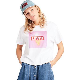Levi's Frauen's perfekte Grafik T-Shirt weiß 89