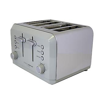Charles Bentley 4 Slice Grey Toaster Stainless Steel Browning Control