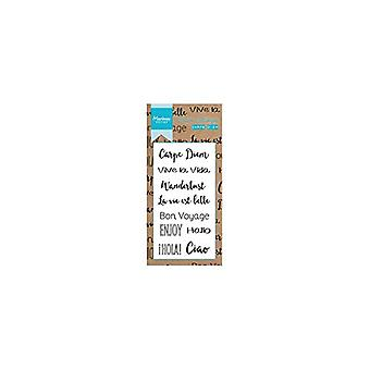 Marianne Design Carpe Diem Clear Stamp Set, Synthetic Material, 15 x 7.5 x 0.4 cm