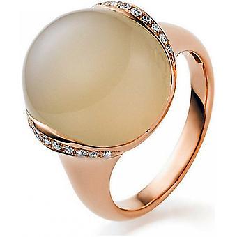 Gemstone Ring Diamonds 0.13ct. Moonstone 15.06 ct. Size 54
