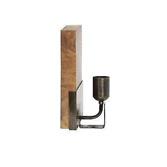 Light & Living Wall Lamp 20X12X26 Cm Brick Natural Brown