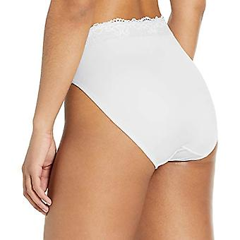 Bali Women's Passion for Comfort Hi-Cut Panty, White, 6, White, Size 6.0