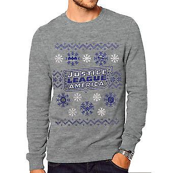 DC Originals Unisex Adults Justice League Christmas Crewneck Sweatshirt