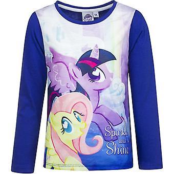 Mijn Little Pony lange sleevesweater met donker blauwe mouwen