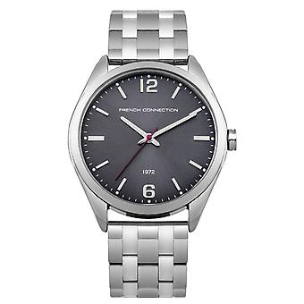 Franske forbindelse dame damer Wrist Watch sølv rustfrit stål rem FC1293BM