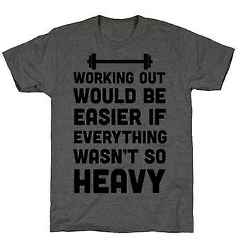 Training wäre einfacher Kohle T-shirt